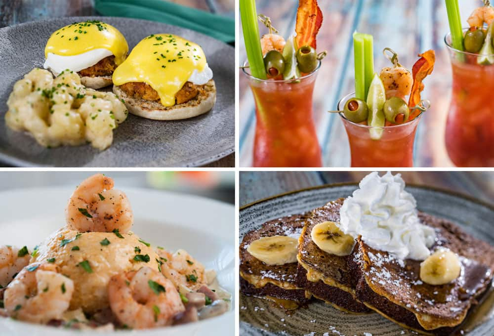 Banana Bread French Toast. Crab Cake-Eggs Benedict