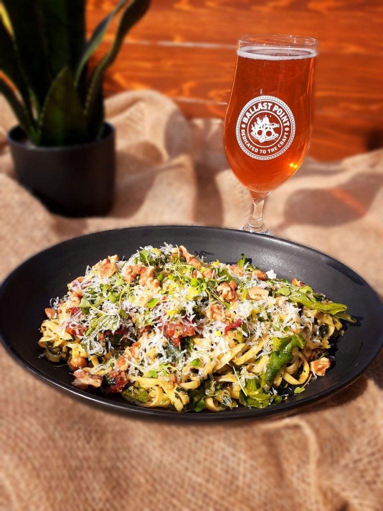 Linguini and Kale Pesto Salad