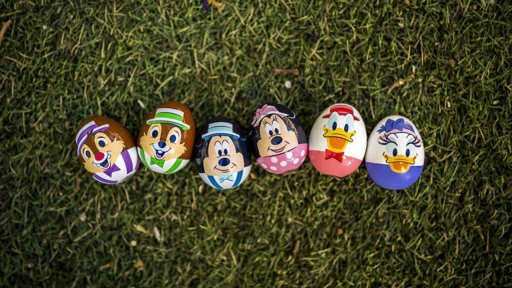 Collectible eggs for the 2021 Eggstravaganza at Downtown Disney District at Disneyland Resort