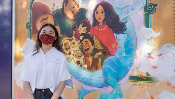 Imagineer Xiao Qing Chen Designs Artwork Inspired by Disney's 'Raya and the Last Dragon' for Downtown Disney District