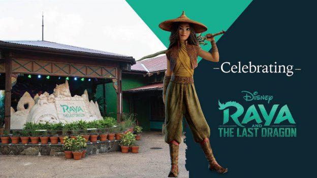 Sand sculpture celebrating 'Raya and the Last Dragon' at Disney's Animal Kingdom