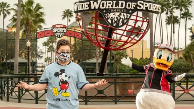 Actor Maxwell Simkins visits ESPN Wide World of Sports