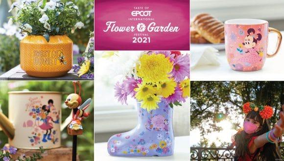 Collage of 2021 Taste of EPCOT International Flower & Garden Festival Merchandise