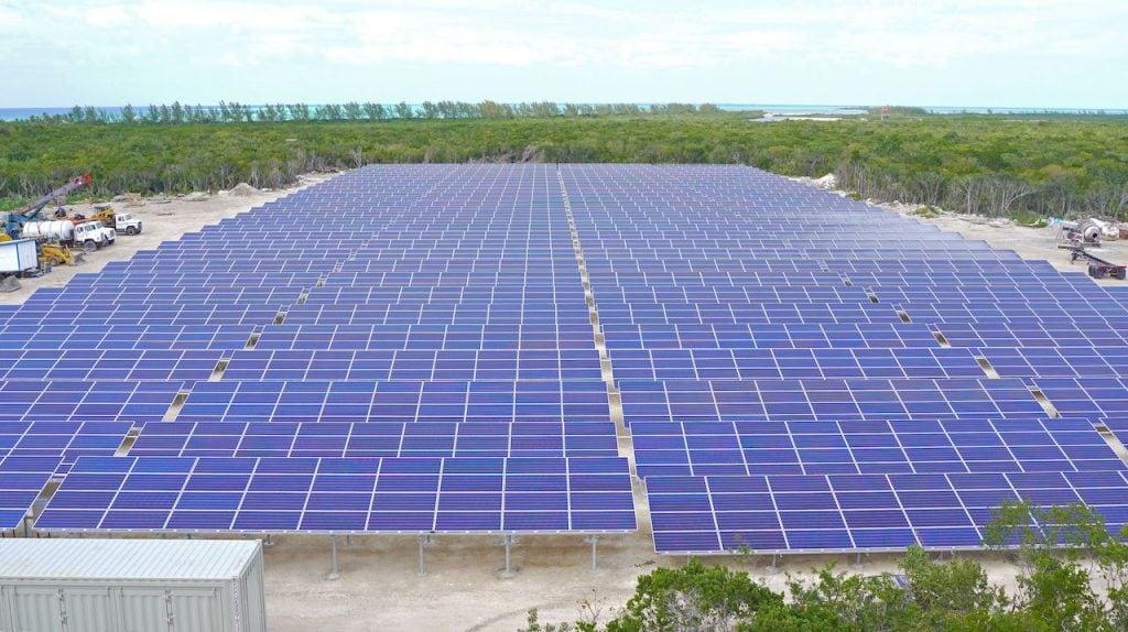 Solar panels at Disney Cruise Line's Castaway Cay