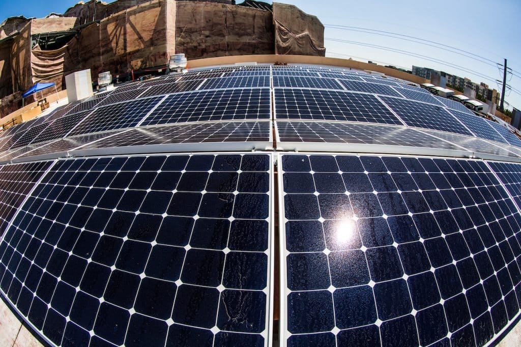 Solar panels at Disneyland Resort