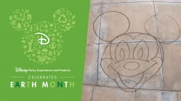 Mickey Mouse water art graphic