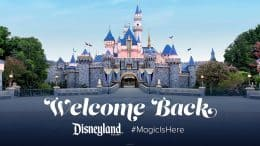 Welcome Back to Disneyland Resort Theme Parks graphic