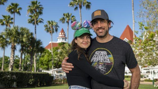 Aaron Rodgers and Shailene Woodley at Walt Disney World Resort