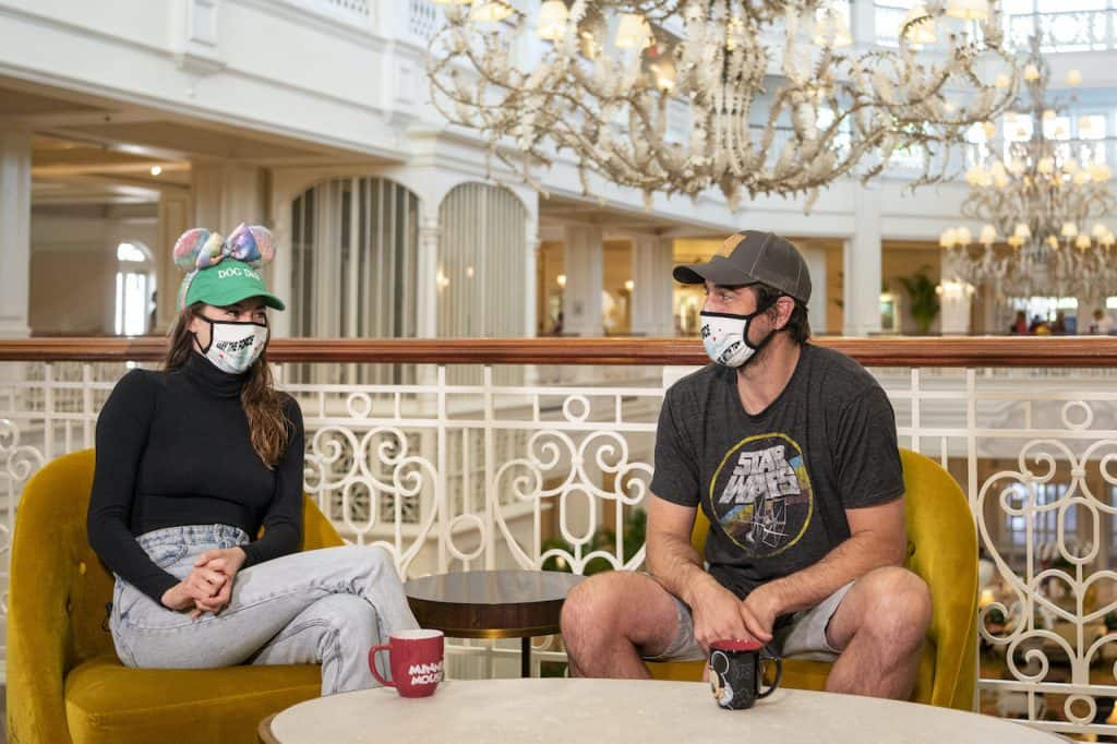 Aaron Rodgers and Shailene Woodley at Disney's Grand Floridian Resort