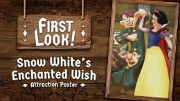 Snow White's Enchanted Wish Attraction Poster at Disneyland Park