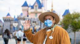 Cast member at Disneyland Park