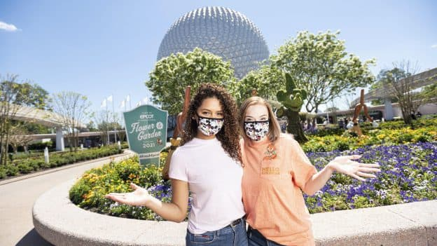 Two friends at the Taste of EPCOT International Flower & Garden Festival