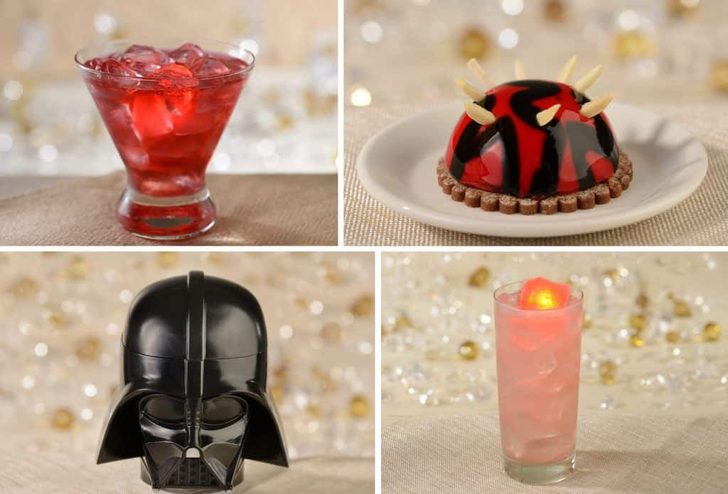 Jettison Juice, Dark Side Chocolate Creation, Darth Vader Stein and Cosmic Rum Punch