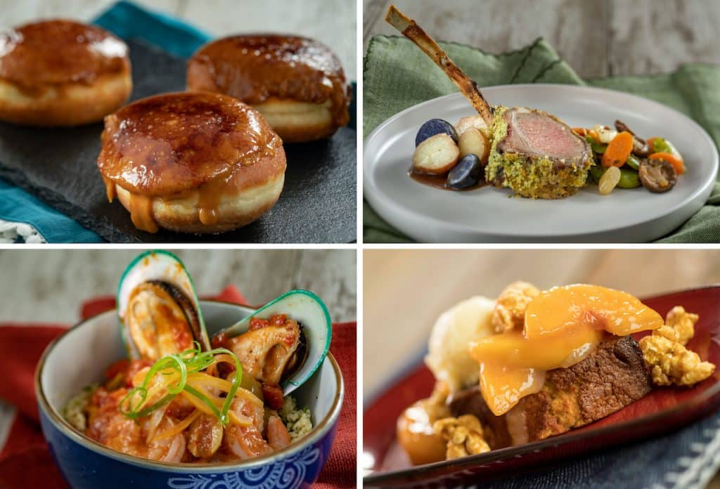 Fleur de Lys, EPCOT Farmers Feast, Taste of Marrakesh dish and Northern Bloom, all available at the Taste of EPCOT International Flower & Garden Festival