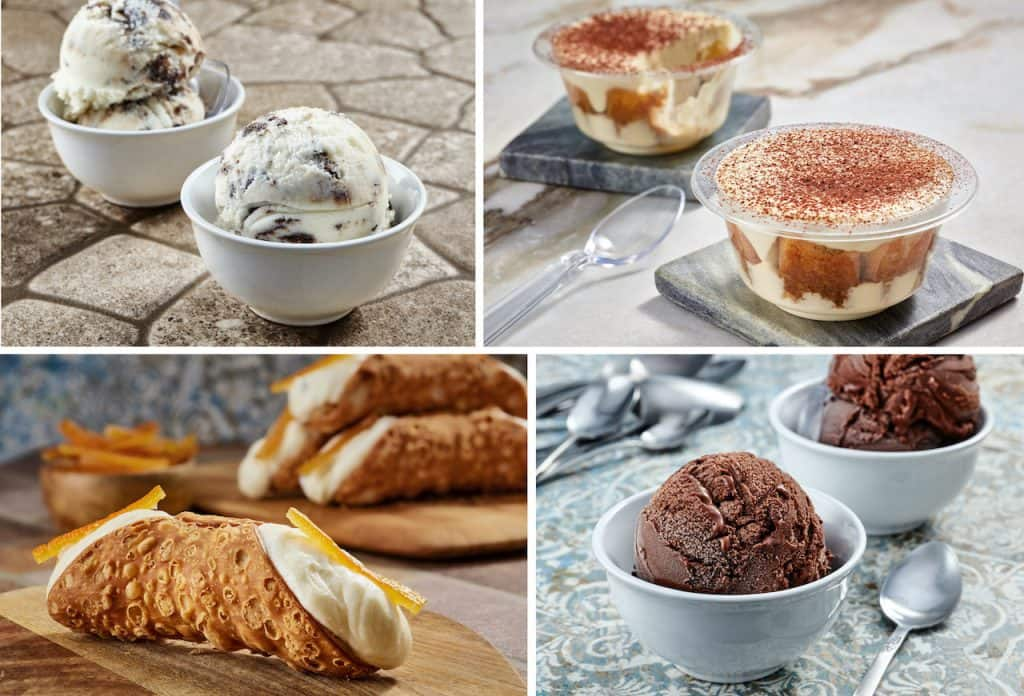 Collage of treats from the new Gelateria Toscana opening at EPCOT in May