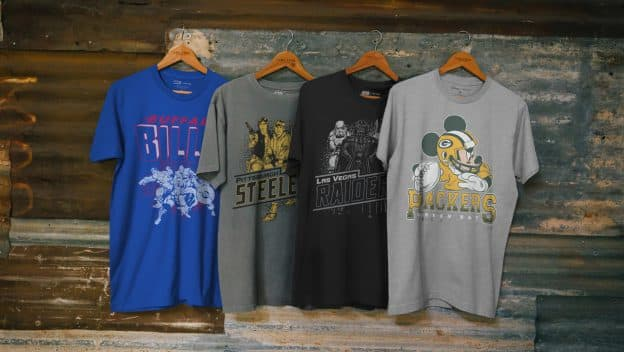 Tees from the Disney, NFL and Junk Food Clothing Collaboration