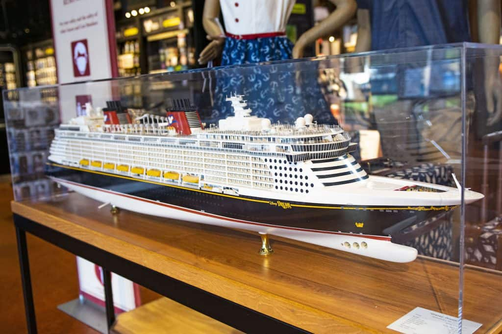 Model of the Disney Dream at Disney Springs