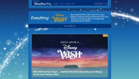 Everything Disney Wish Page on the Disney Parks Blog