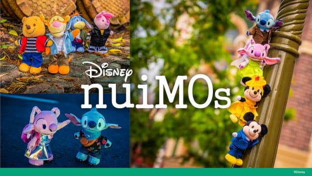 Collage of Disney nuiMOs Plush Featuring Winnie the Pooh & Friends
