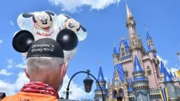 Don Muchow in front of Cinderella Castle