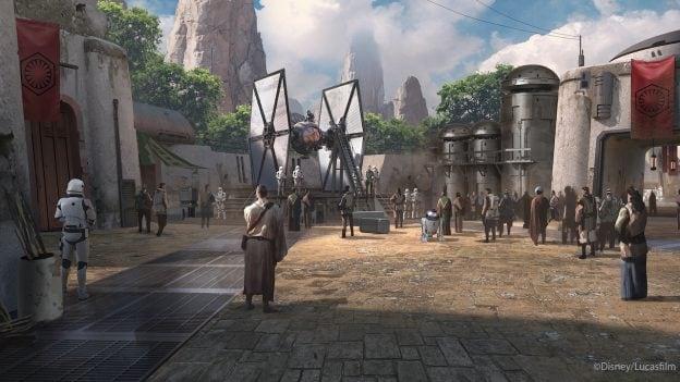 Artist rendering of Star Wars: Galaxy's Edge