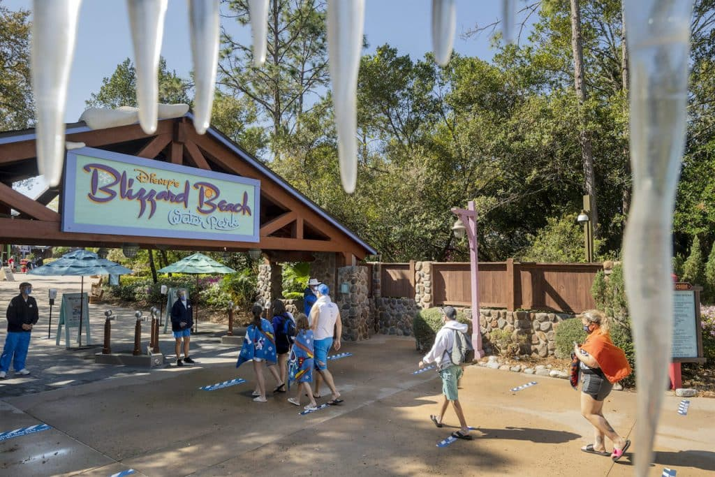 Guests entering Disney's Blizzard Beach Water Park