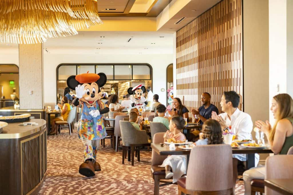 Character Dining at Topolino's Terrace at Disney's Riviera Resort