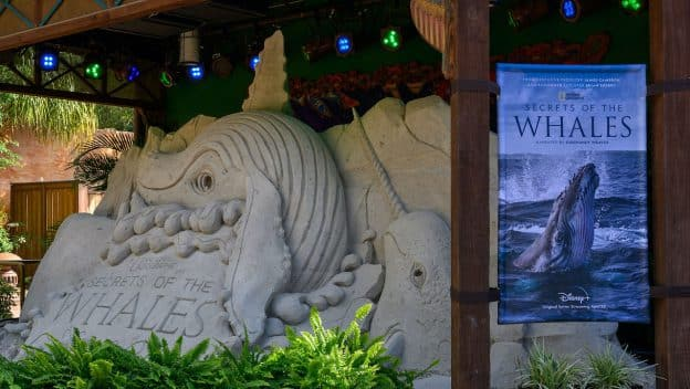 'Secrets of the Whales' Sand Sculpture at Disney's Animal Kingdom