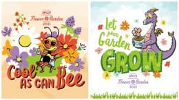 Collage of two Taste of EPCOT Flower & Garden Festival wallpapers