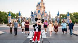 Mickey Mouse and American Idol top nine contestants at Magic Kingdom Park