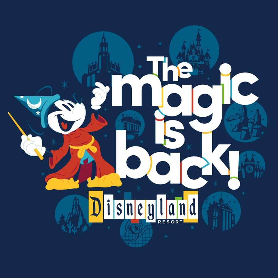 'The Magic Is Back' Merchandise Collection at Disneyland Resort