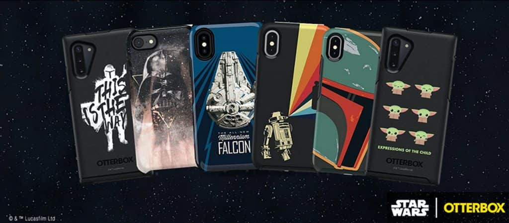 Collection of Star Wars-inspired phone cases from OtterBox