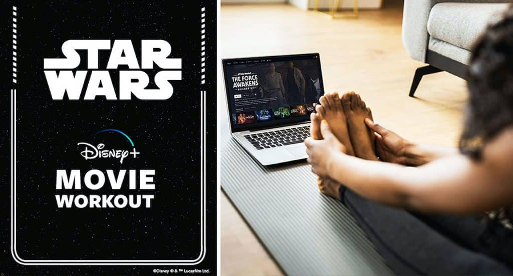 Women training for the Virtual Star Wars Rival Run Weekend event with a Star Wars-inspired workout from AdventHealth