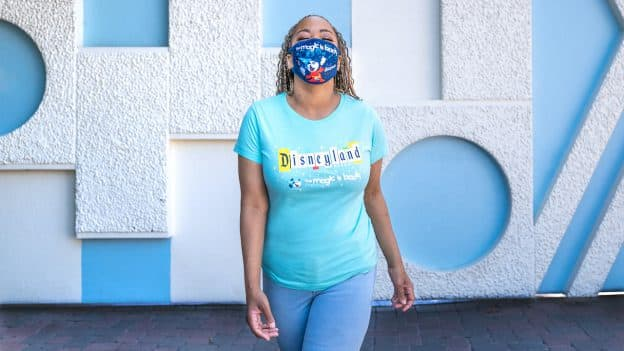 'The Magic Is Back' Merchandise Collection at Disneyland Resort - T-shirt and face mask