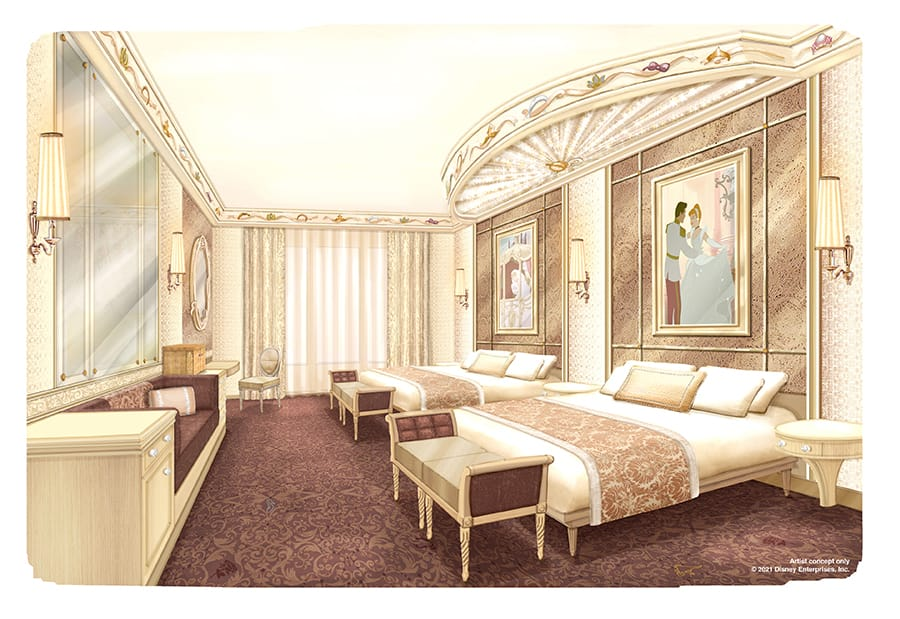 Artist concept of Disneyland Hotel at Disneyland Paris