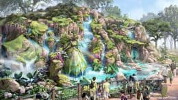 Artist concept of Tokyo DisneySea's new themed port Fantasy Springs