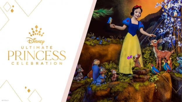 The Ultimate Princess Celebration graphic with Snow White