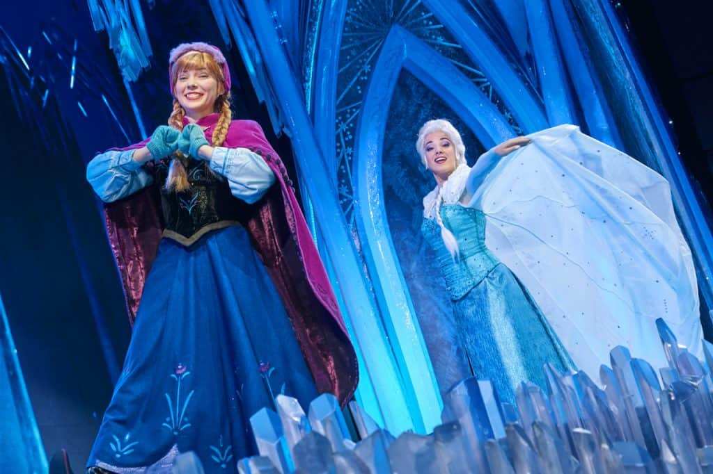 Anna and Elsa at Disneyland Paris