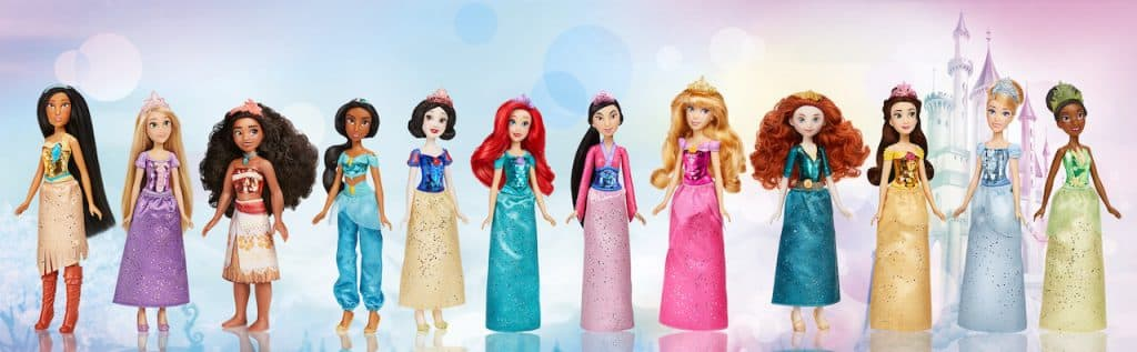 Hasbro Disney Princess Royal Shimmer Dolls