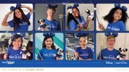 Gallery of Make-A-Wish kids celebrating the reveal of the Disney Wish