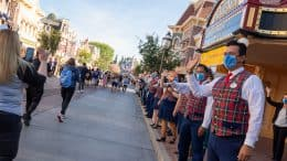 Guests Arrive on Main Street U.S.A. as Disneyland Park Reopens