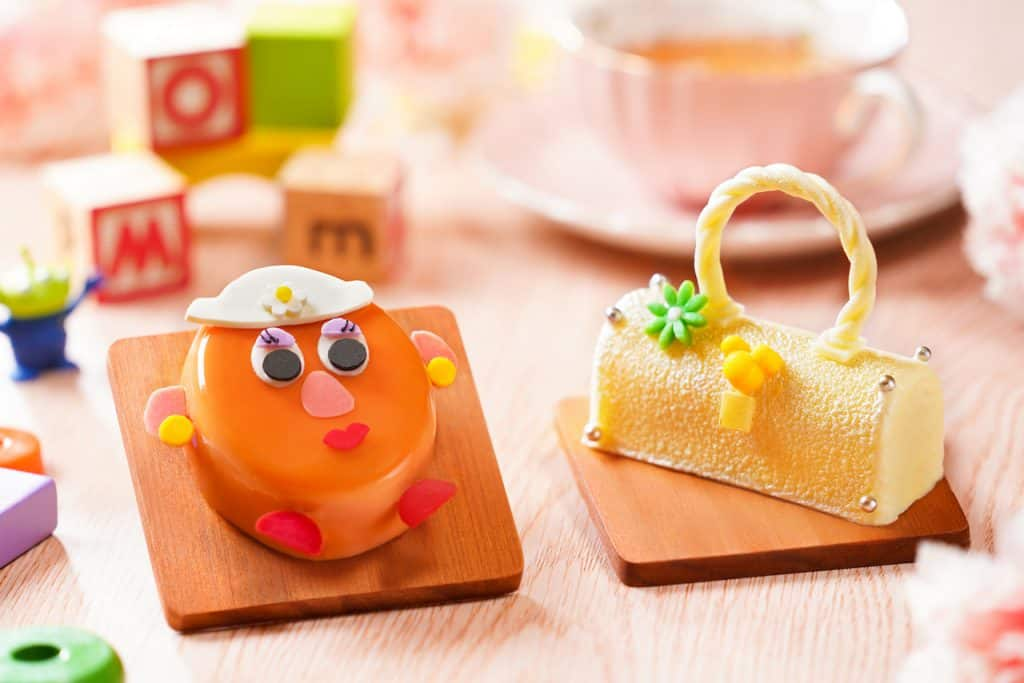 Treats inspired by Mrs. Potato Head and a purse found at Hong Kong Disneyland Resort