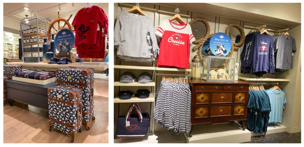 Collage of Disney Cruise Line Products available at The Market at Ale & Compass