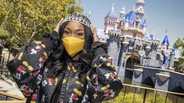 Grammy Award-winning recording artist Brandy at Disneyland Park