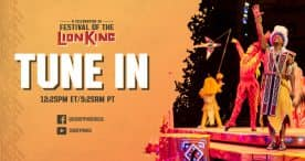 'A Celebration of Festival of the Lion King' graphic