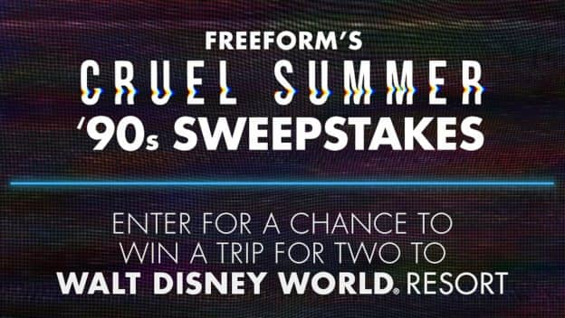 'Cruel Summer' '90s Sweepstakes graphic