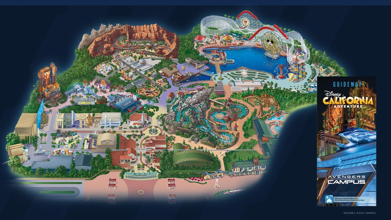 First Look Guide Map For Avengers Campus At Disney California Adventure Park Disney Parks Blog