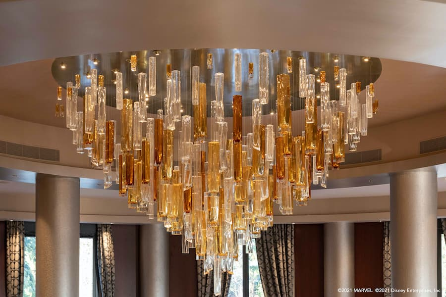 Iconic Chandelier at Disney's Hotel New York – The Art of Marvel