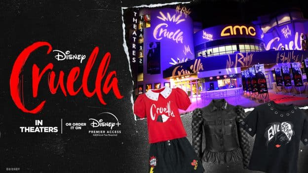 Disney Cruella in Theaters or Order it on Disney+ Premier Access (Additional Fee Required) - New Cruella Themed Offerings at Disney Springs and more