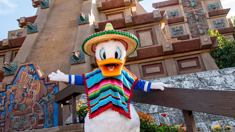 Donald Duck in the Mexico Pavilion at EPCOT